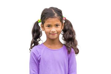 Portrait of little happy child
