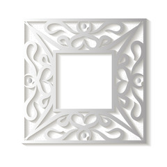 Square frame with an ornament
