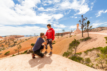Couple in Bryce Canyon National Park, Utah