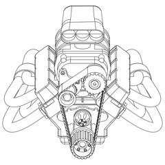 Hot Rod Engine