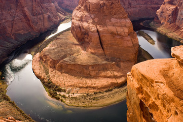 Horseshoe Bend Colorado River Heads into the Grand Canyon