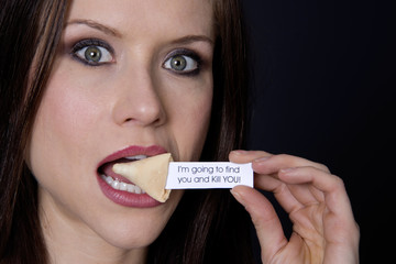Woman Finds Troubling Fortune Cookie Message