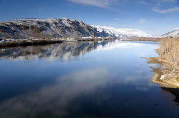 Columbia River Flows Slow After Fresh Snow