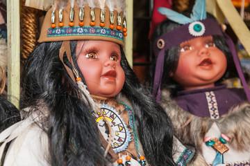 Native american dolls on market