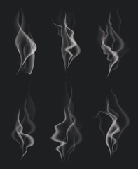 Set of Transparent Smoke Waves