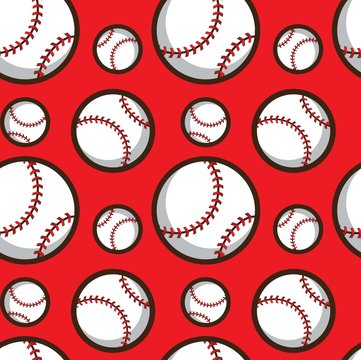 baseball seamless pattern