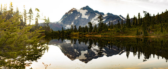 Mt Shuksan Picture Lake Landscape at Mount Baker, Washington State