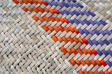 Woven flax traditional Maori culture