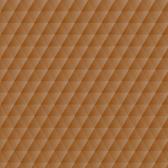 Abstract orange geometric hexagons pattern background