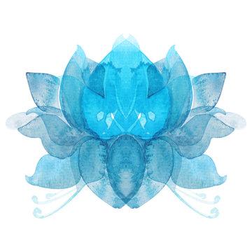 watercolor flower lotus chakra symbol