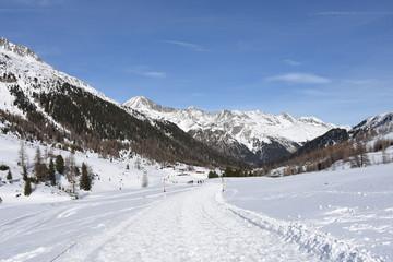 Schipiste, Langlaufloipe, Staller Sattel, Osttirol, Wanderweg, Straße, Passstraße, Loipe