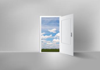 Open door to everywhere