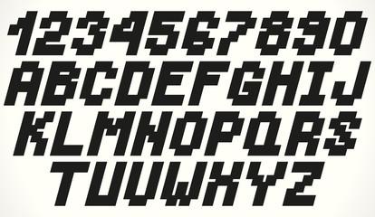 Vector geometric square font
