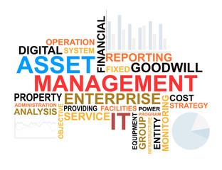 Asset management words cloud