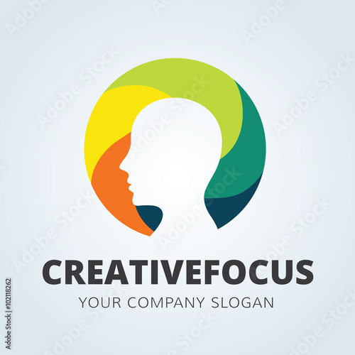 Creative Idea LogoBrain Logolearning Logoeducation Logomine And