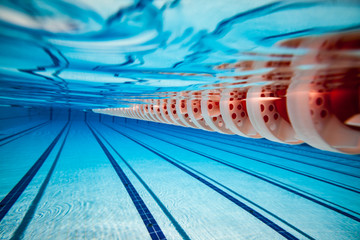 Fototapete - Swimming pool background
