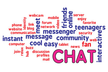 Tag cloud chat communication messenger interactive 020