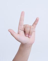 finger love you