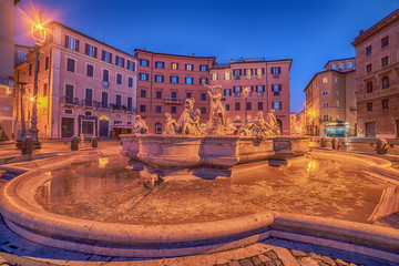 Fototapete - Rome, Italy: Piazza Navona