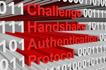 Challenge Handshake Authentication Protocol presented in the form of binary code