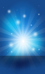 Blue shining banner