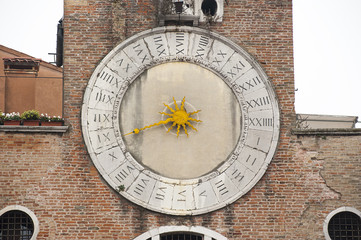 Historical clock in Venice