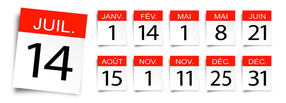 Calendrier / Jours de fête et jours fériés en France
