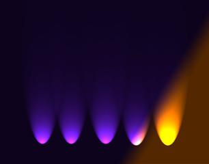 Абстрактный темный фон с огнями.