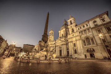 Wall Mural - Rome, Italy: Piazza Navona, Sant'Agnese in Agone Church
