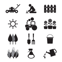 Agricultural Equipment Icons.