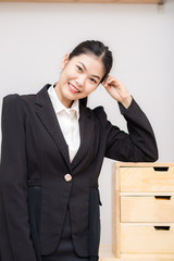 Portrait of beautiful dressed young asian business women