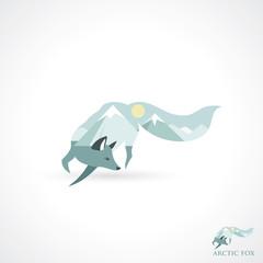 Arctic fox symbol