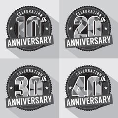Set of Anniversary Celebration Design.