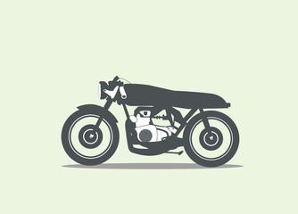 motorbike, motorcycle vector silhouette