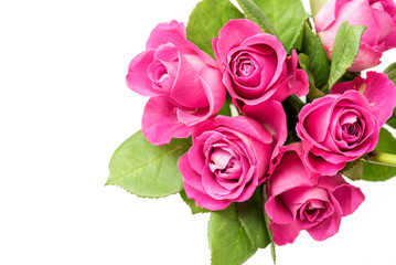 bouquet of flowers - pink roses - mothers day