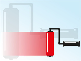 Paint roller with a touch of paint. Vector illustration.