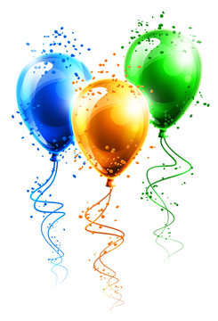 Ilustracja kolorowych balonów