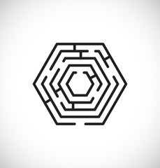 maze labyrinth icon