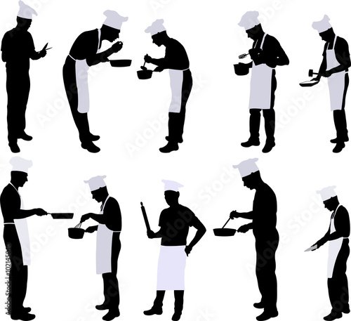 """""""Chef silhouette collection - vector"""" Stock image and ..."""