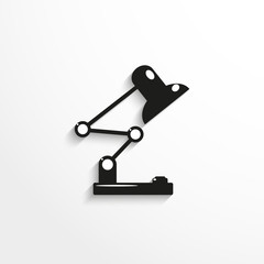 Pieces of furniture. Table lamp. Vector icon.