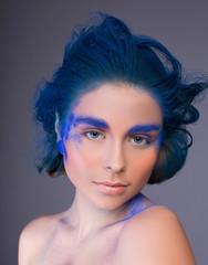 Beautiful sexy woman  in studio