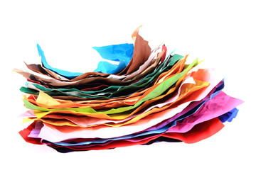 color papers stack