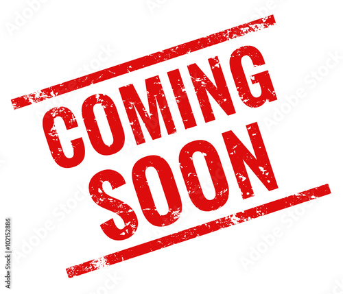 coming soon stamp red grunge stock image and royalty free vector