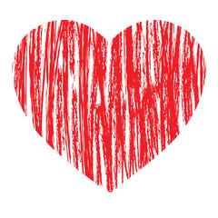 vertical draw heart