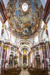 interior of church of benedictine monastery in Altenburg, Lower