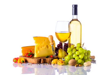Swiss Cheese and White Wine