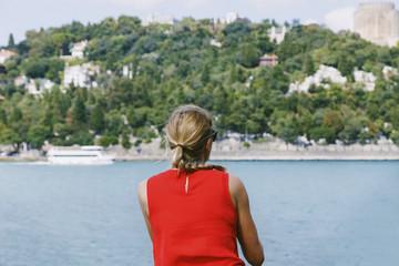 Female traveler ,Sightseeing.