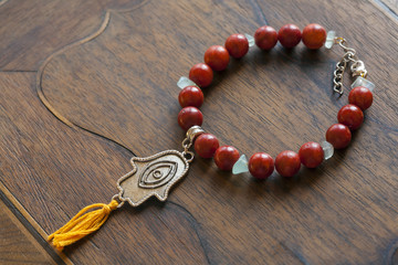 Bracelet with Fatima's hand pendant