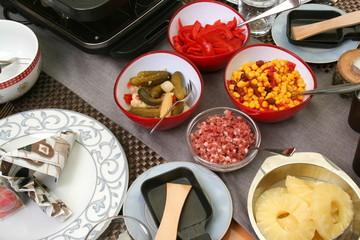 Zutaten zum Raclette