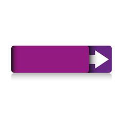 Empty violet button vector